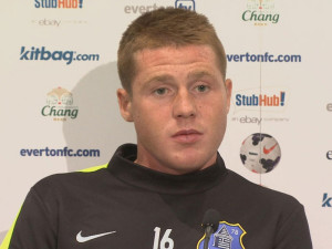 James McCarthy opened the scoring in Everton's 3-0 win against Manchester United on Sunday