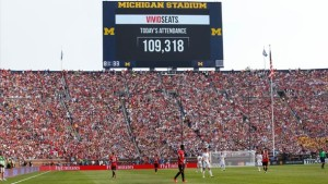 Last year a record amount of people attended the Manchester United vs. Real Madrid game