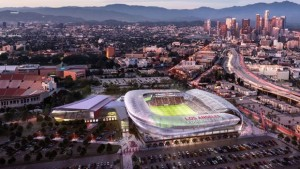 The rendering of the proposed LAFC Stadium