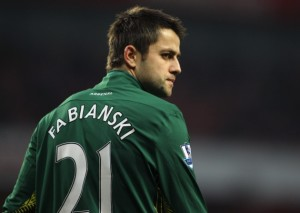 Former Arsenal 'keeper Lukasz Fabianski helped Swansea to a shock 1-0 win against his old team