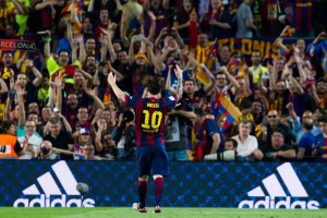 Lionel Mess scored a brace as Barcelona won the Copa del Rey final 3-1 against Athletic Bilbao on Saturday night