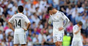 Real Madrid's Cristiano Ronaldo cannot hide his feeling after Valencia dent Los Blancos' hopes of winning La Liga