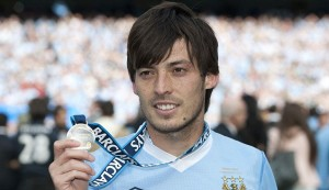 David Silva was influential as Manchester City won 2-0 at Everton on Sunday