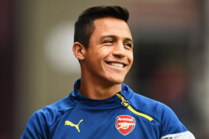 Arsenal's Alexis Sanchez scored a hat-trick in the Gunners 5-2 victory over Leicester at the King Power Stadium