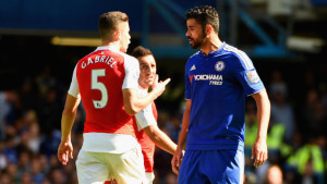 Diego Costa and Gabriel have been charged with violent conduct and improper conduct respectively