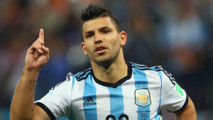 Manchester City striker Sergio Aguero picked-up a knock on international duty with Argentina