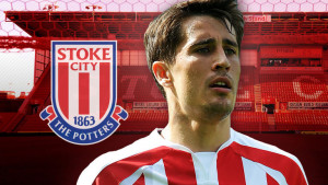 Spanish forward Bojan scored the only goal of the game as Stoke defeated Swansea 1-0 on Monday night