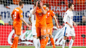 Robin van Persie scored at both ends as the Netherlands fell to a 3-2 defeat against the Czech Republic