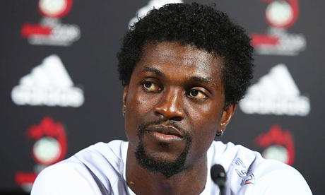 Watford are being linked with a January move for former-Spurs striker Emmanuel Adebayor